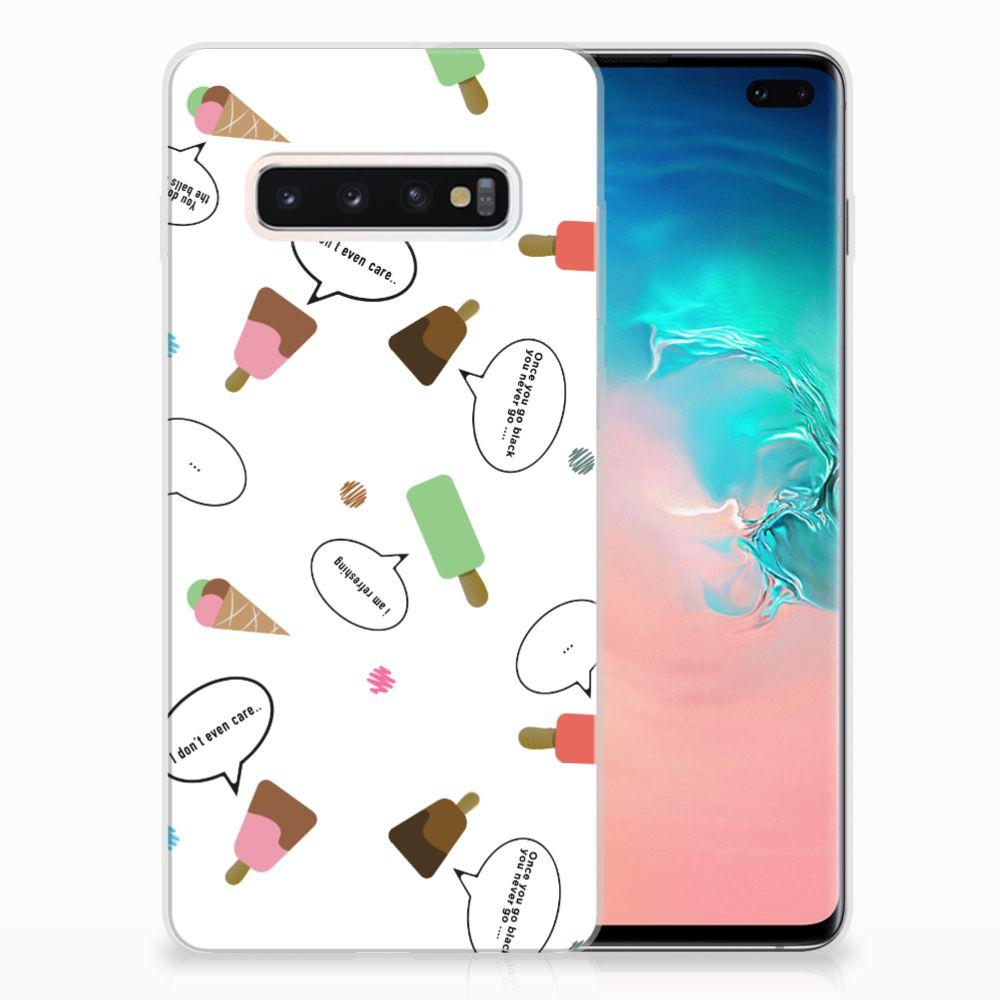 Samsung Galaxy S10 Plus Siliconen Case IJsjes