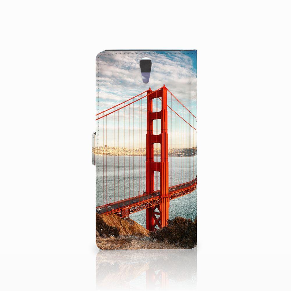 Sony Xperia C5 Ultra Flip Cover Golden Gate Bridge