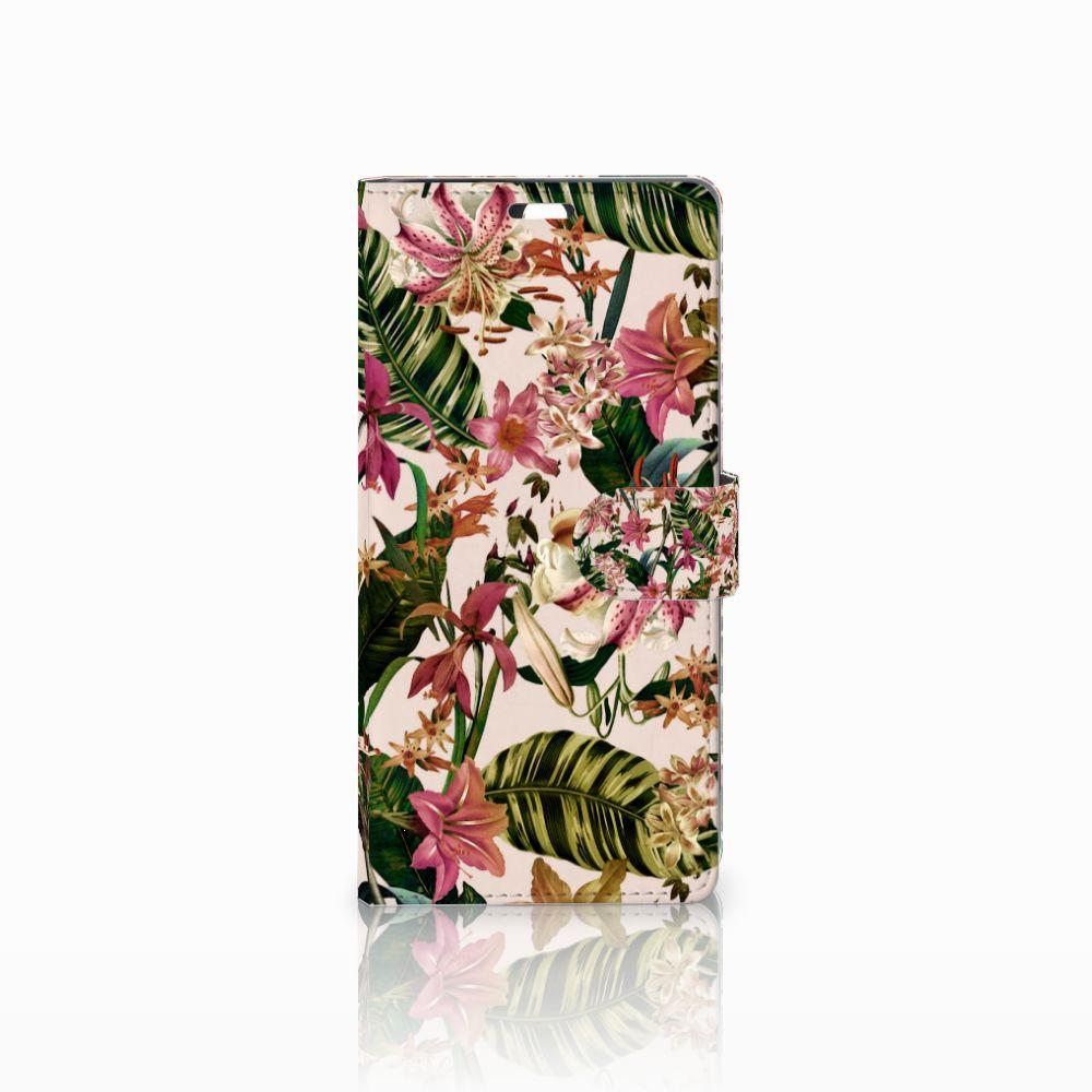 Sony Xperia C5 Ultra Uniek Boekhoesje Flowers