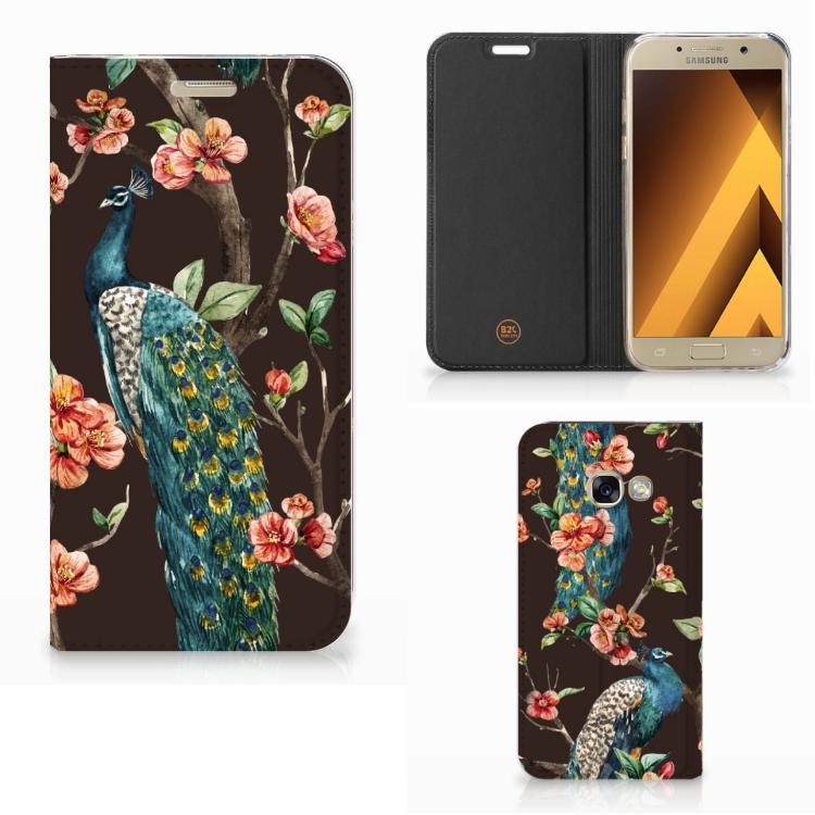 Samsung Galaxy A3 2017 Hoesje maken Pauw met Bloemen