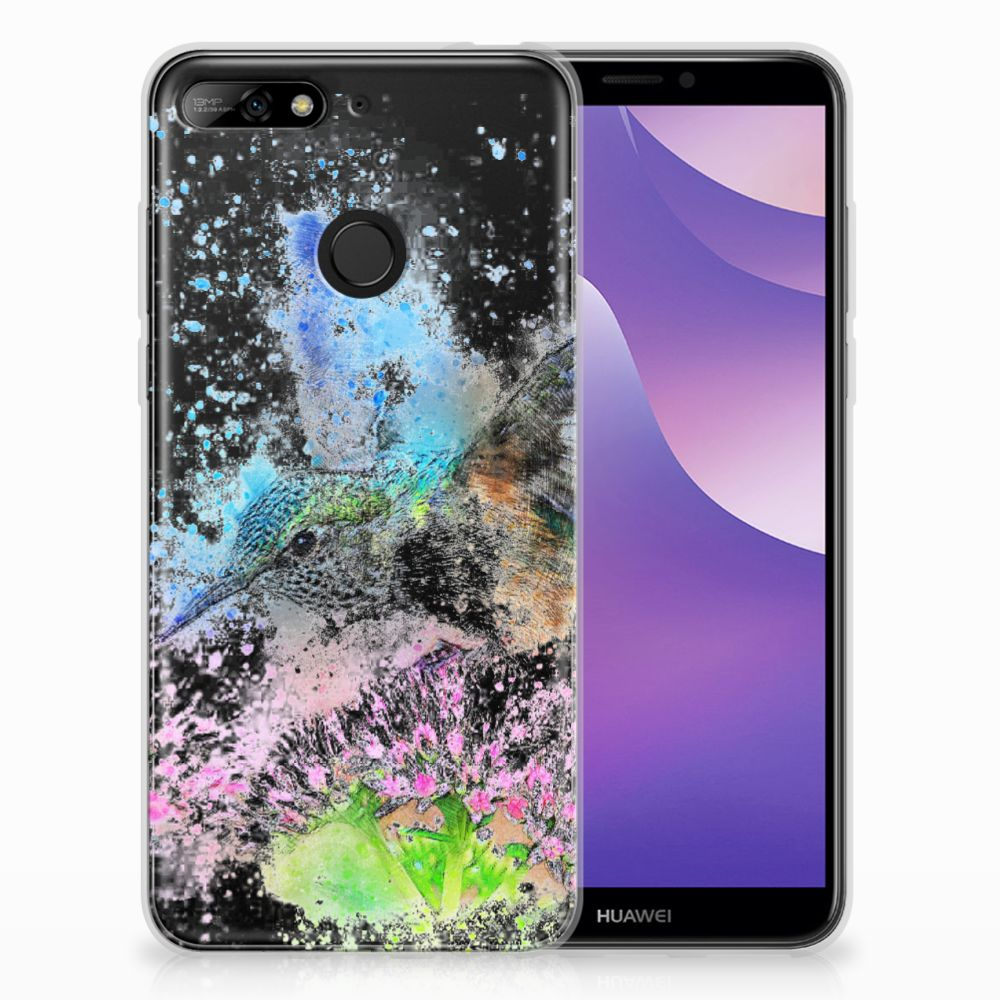 Huawei Y6 (2018) TPU Hoesje Design Vogel
