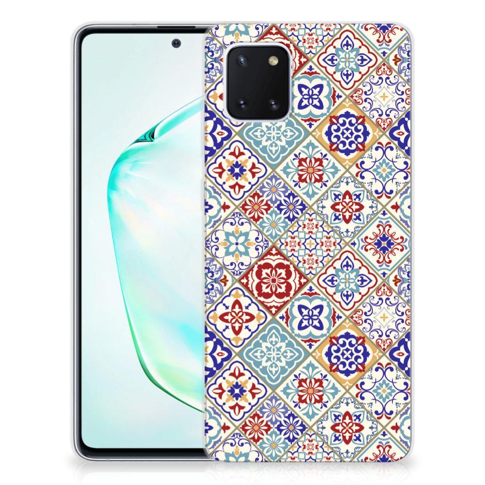 Samsung Galaxy Note 10 Lite TPU Siliconen Hoesje Tiles Color