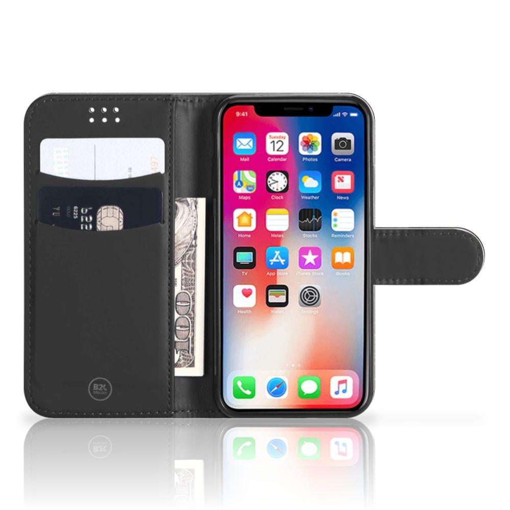 Apple iPhone X | Xs Telefoonhoesje met Pasjes Zwarte Kat