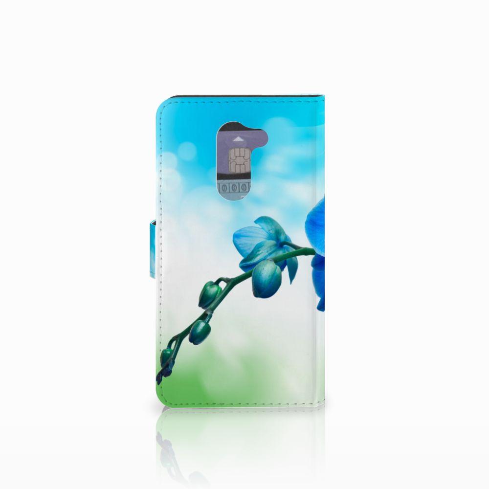 Huawei Honor 6X Hoesje Orchidee Blauw