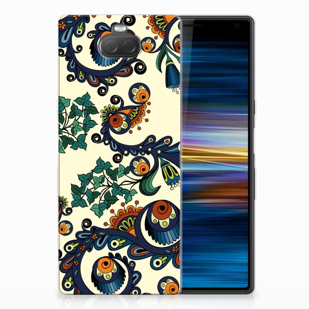 Sony Xperia 10 TPU Hoesje Design Barok Flower