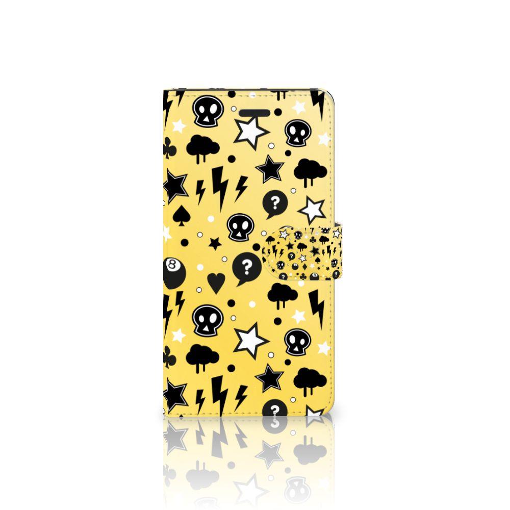 Samsung Galaxy A7 2017 Uniek Boekhoesje Punk Yellow