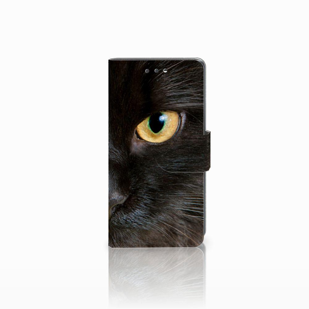 Sony Xperia X Compact Uniek Boekhoesje Zwarte Kat