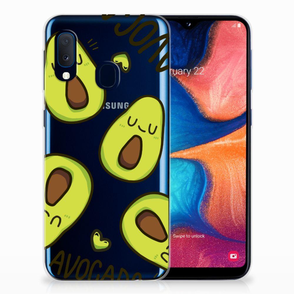 Samsung Galaxy A20e Telefoonhoesje met Naam Avocado Singing