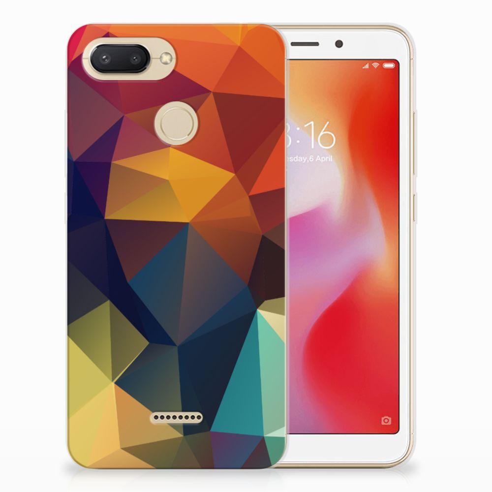Xiaomi Redmi 6 TPU Hoesje Polygon Color