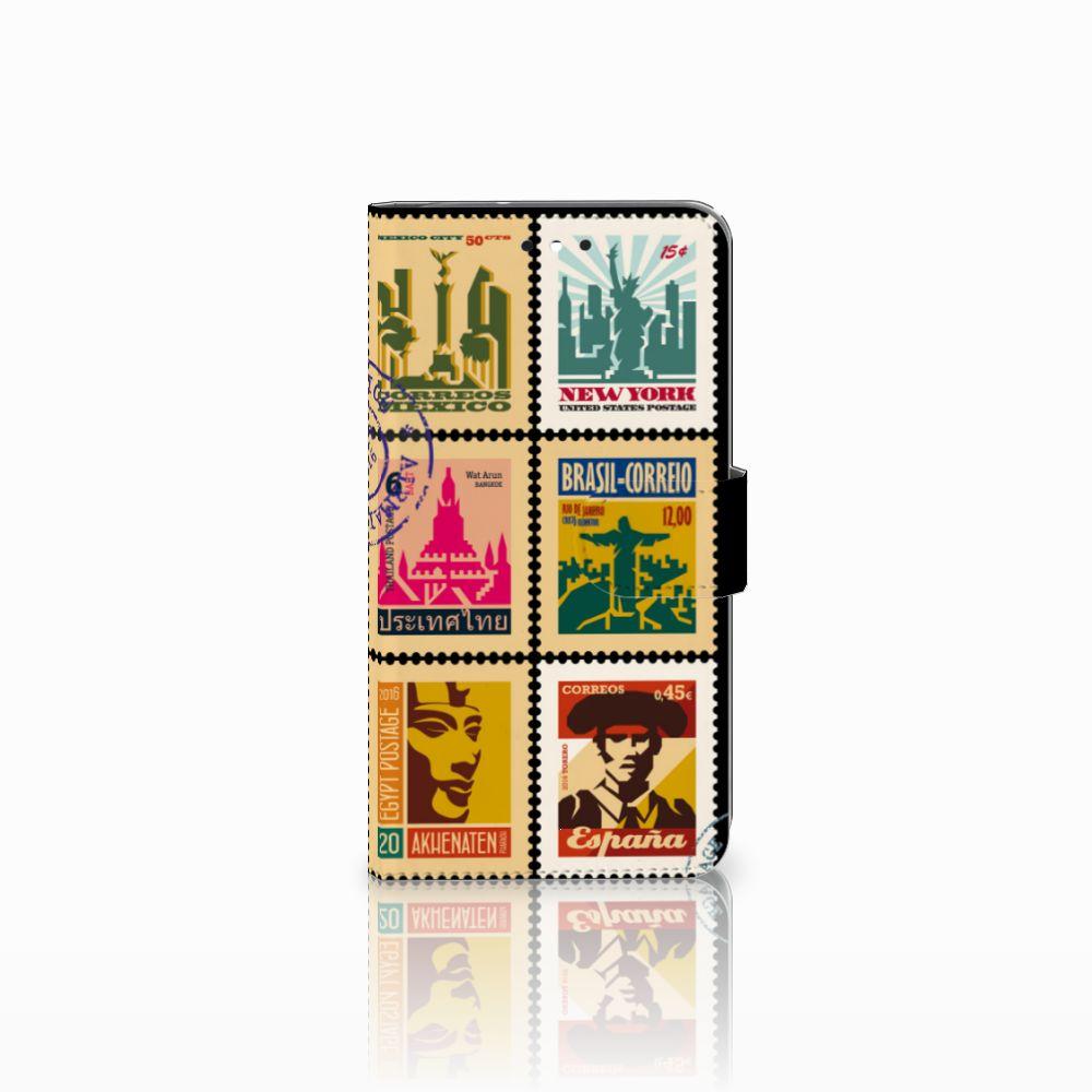 Motorola Moto G4 | G4 Plus Uniek Boekhoesje Postzegels