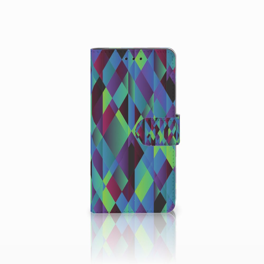 Huawei G8 Boekhoesje Design Abstract Green Blue