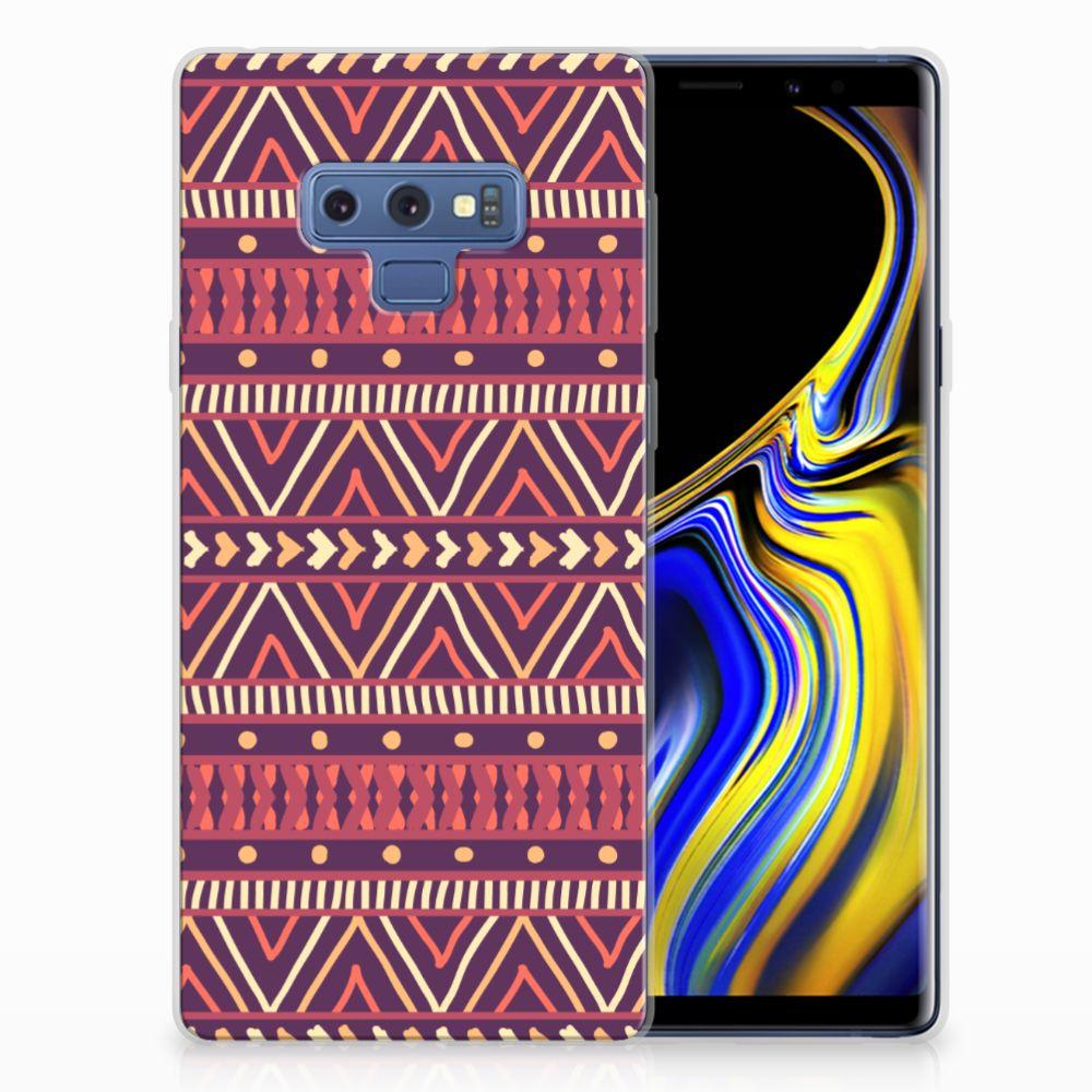 Samsung Galaxy Note 9 TPU bumper Aztec Paars