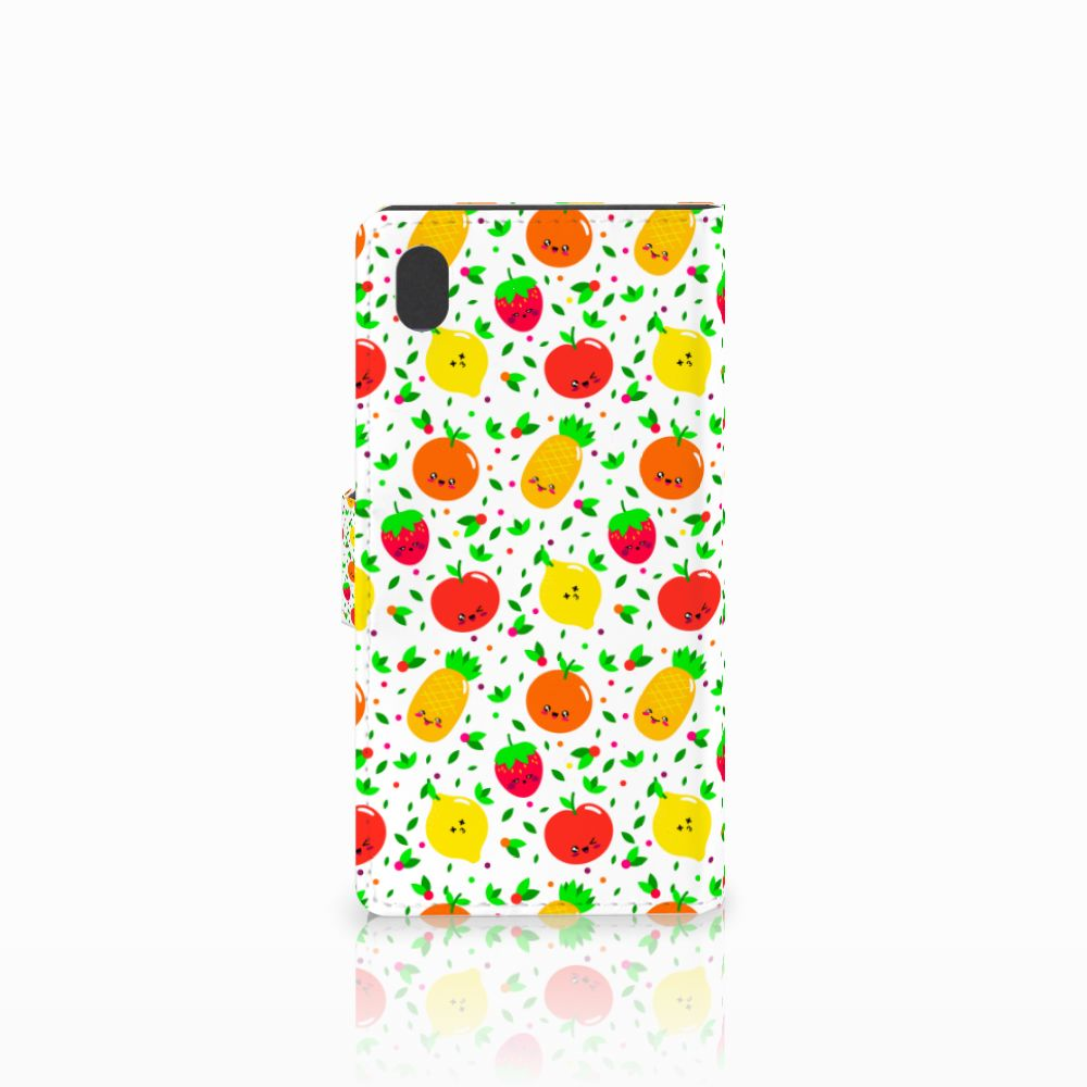 Sony Xperia M4 Aqua Book Cover Fruits