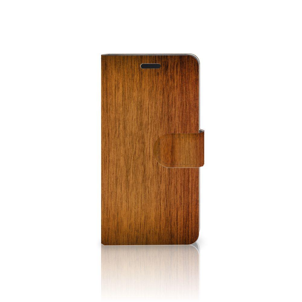 HTC 10 Uniek Boekhoesje Donker Hout