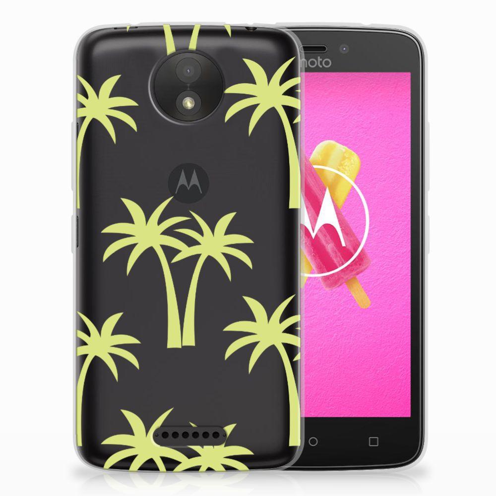 Motorola Moto C Uniek TPU Hoesje Palmtrees