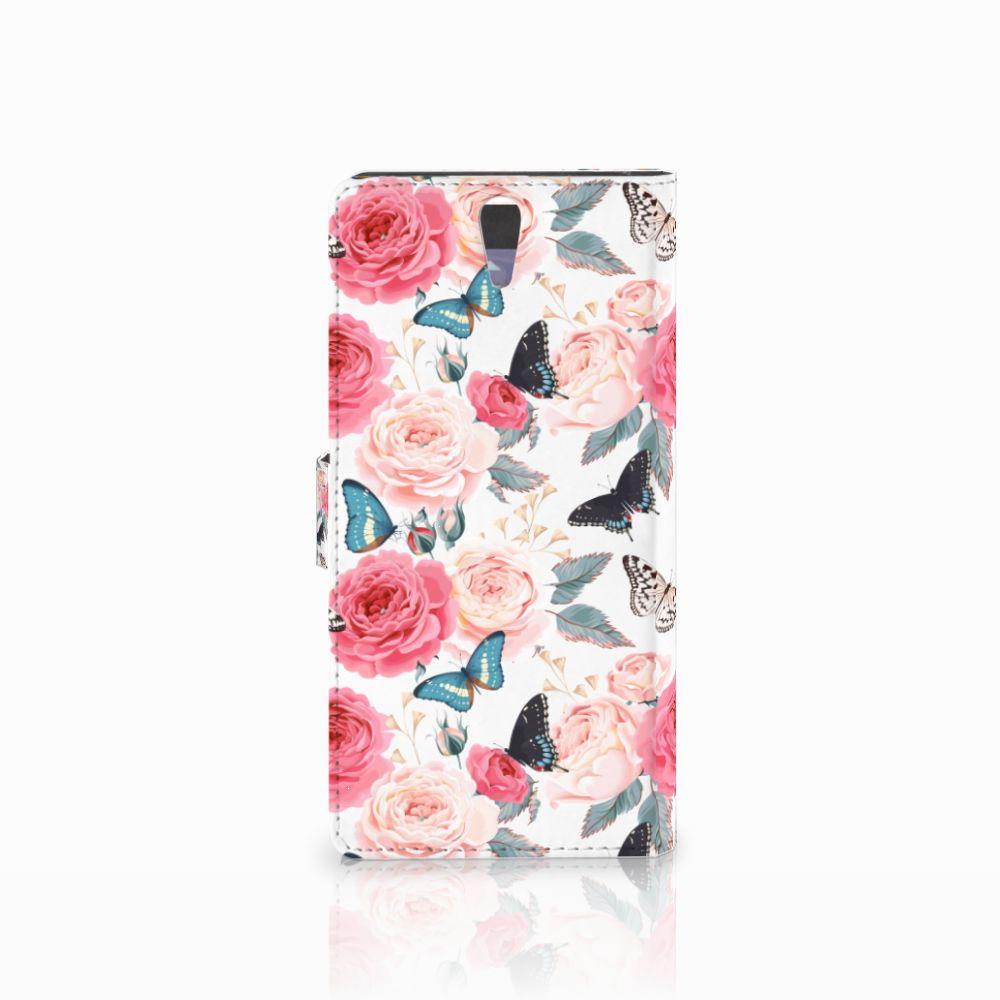 Sony Xperia C5 Ultra Hoesje Butterfly Roses