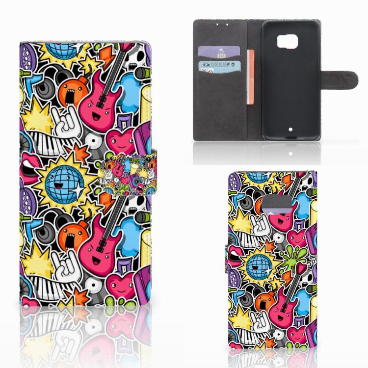 HTC U Ultra Wallet Case met Pasjes Punk Rock