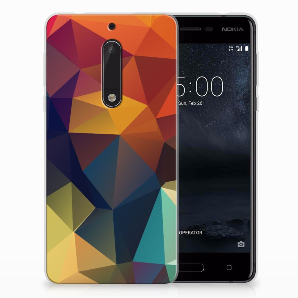 Nokia 5 TPU Hoesje Polygon Color
