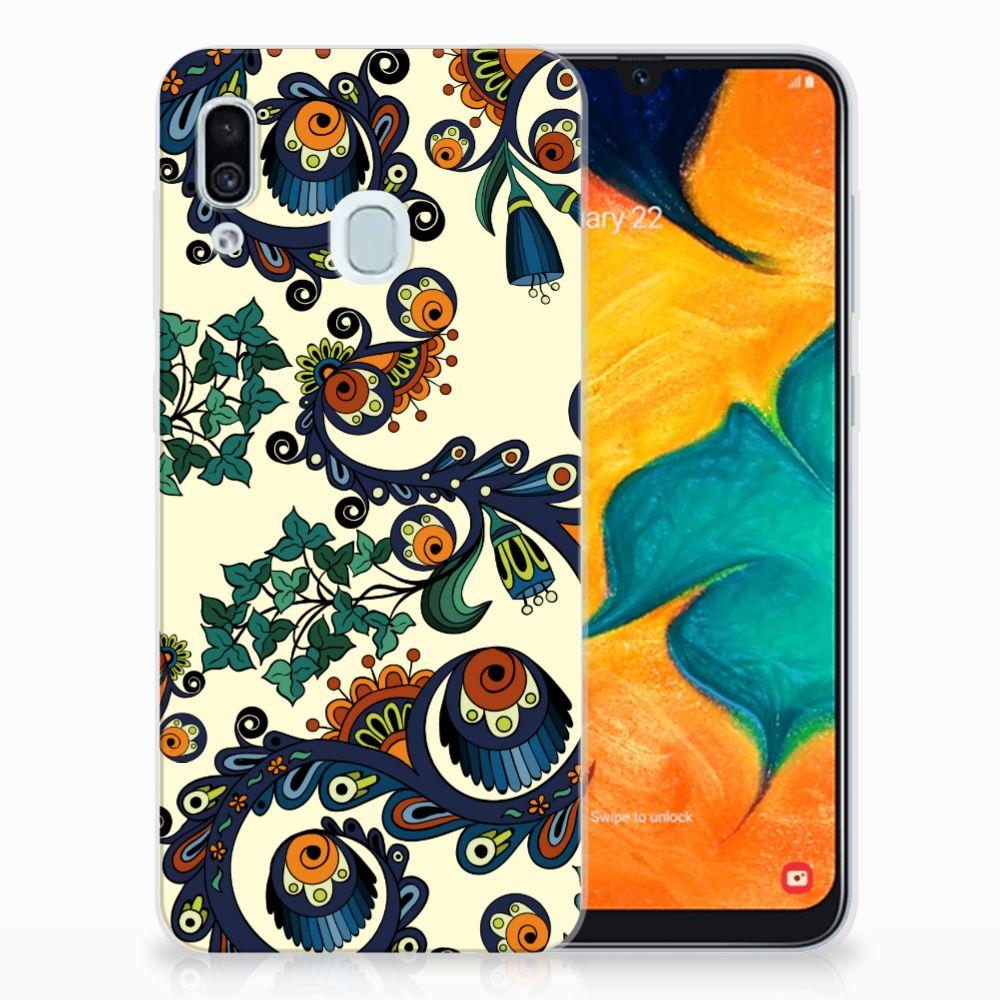 Siliconen Hoesje Samsung Galaxy A30 Barok Flower