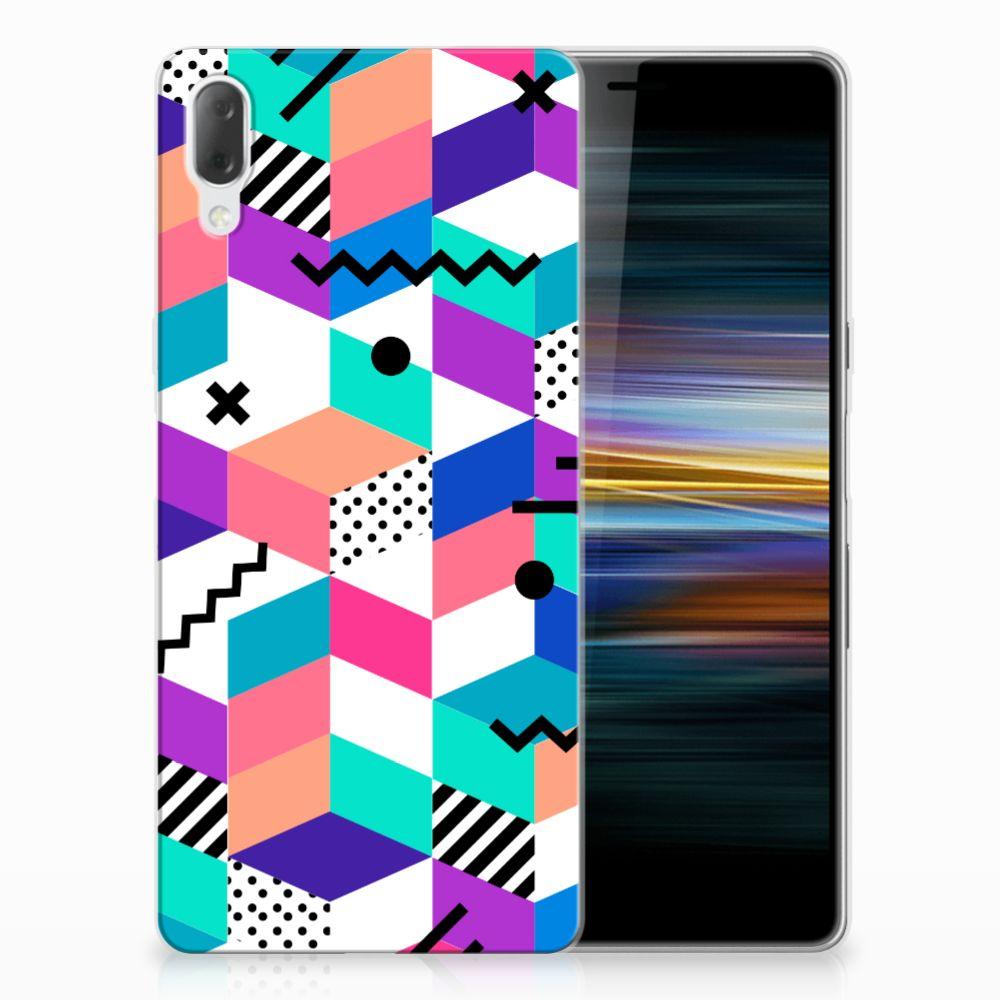 Sony Xperia L3 TPU Hoesje Blokken Kleurrijk