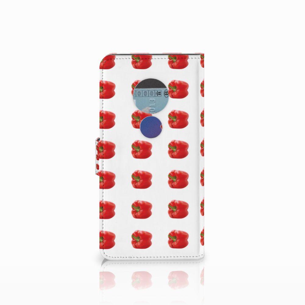 Motorola Moto E5 Book Cover Paprika Red