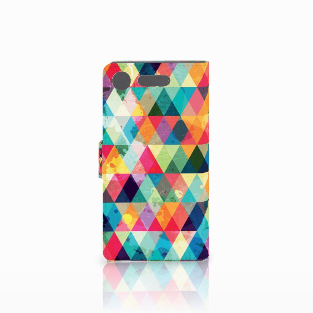 Sony Xperia XZ1 Telefoon Hoesje Geruit