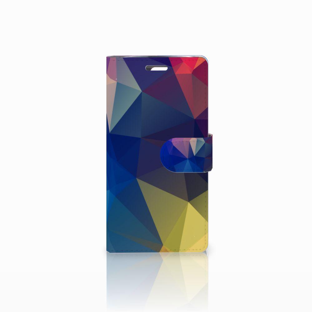 LG K10 2015 Bookcase Polygon Dark