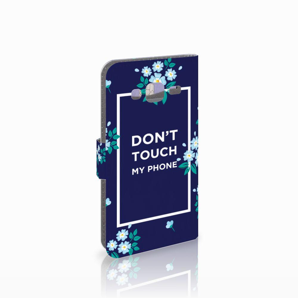 Samsung Galaxy J3 2016 Boekhoesje Flowers Blue DTMP