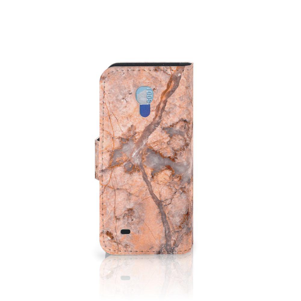 Samsung Galaxy S4 Mini i9190 Bookcase Marmer Oranje