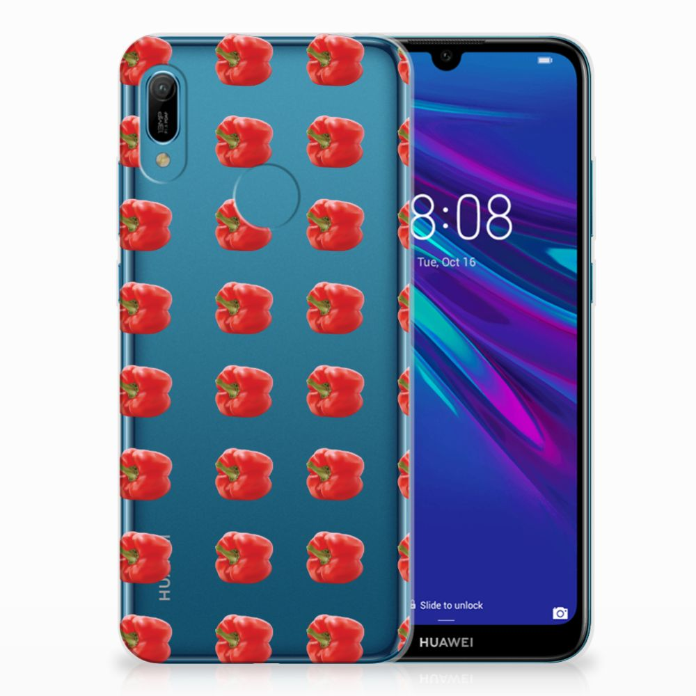 Huawei Y6 2019 | Y6 Pro 2019 Siliconen Case Paprika Red