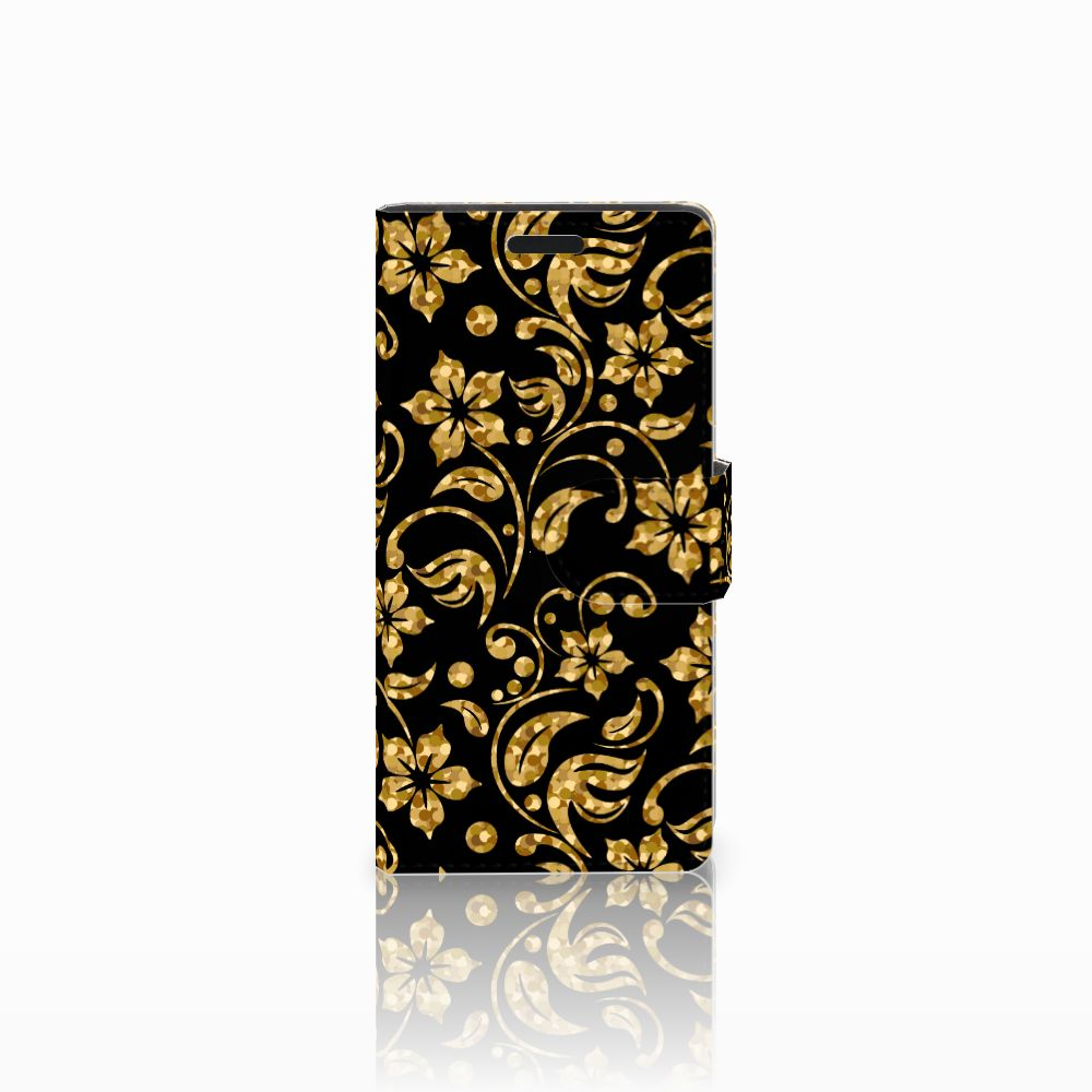 LG Leon 4G Boekhoesje Design Gouden Bloemen