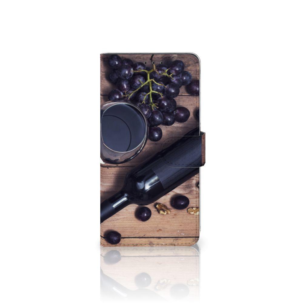 Samsung Galaxy A8 Plus (2018) Uniek Boekhoesje Wijn