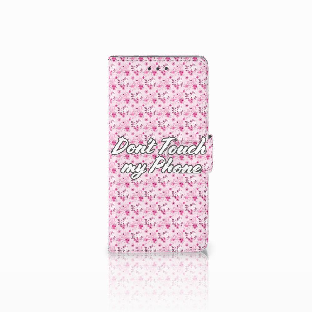 Wiko Lenny 2 Uniek Boekhoesje Flowers Pink DTMP