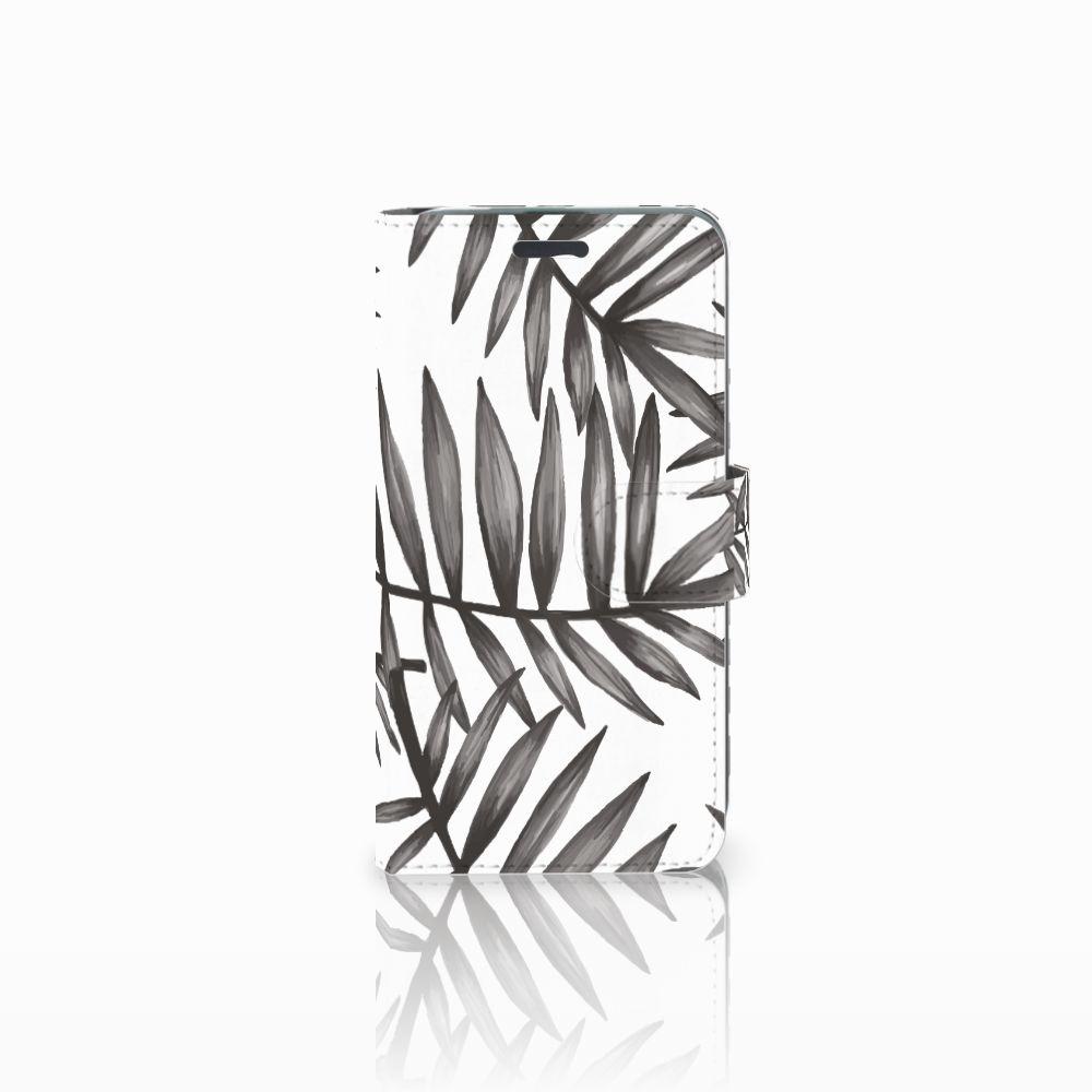 Acer Liquid Z520 Uniek Boekhoesje Leaves Grey