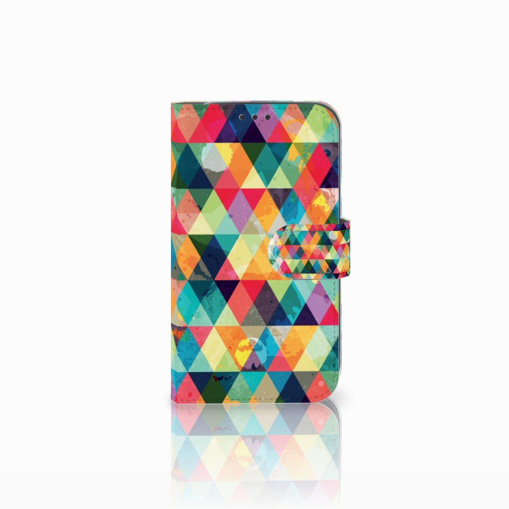 Samsung Galaxy Xcover 4 Uniek Boekhoesje Geruit