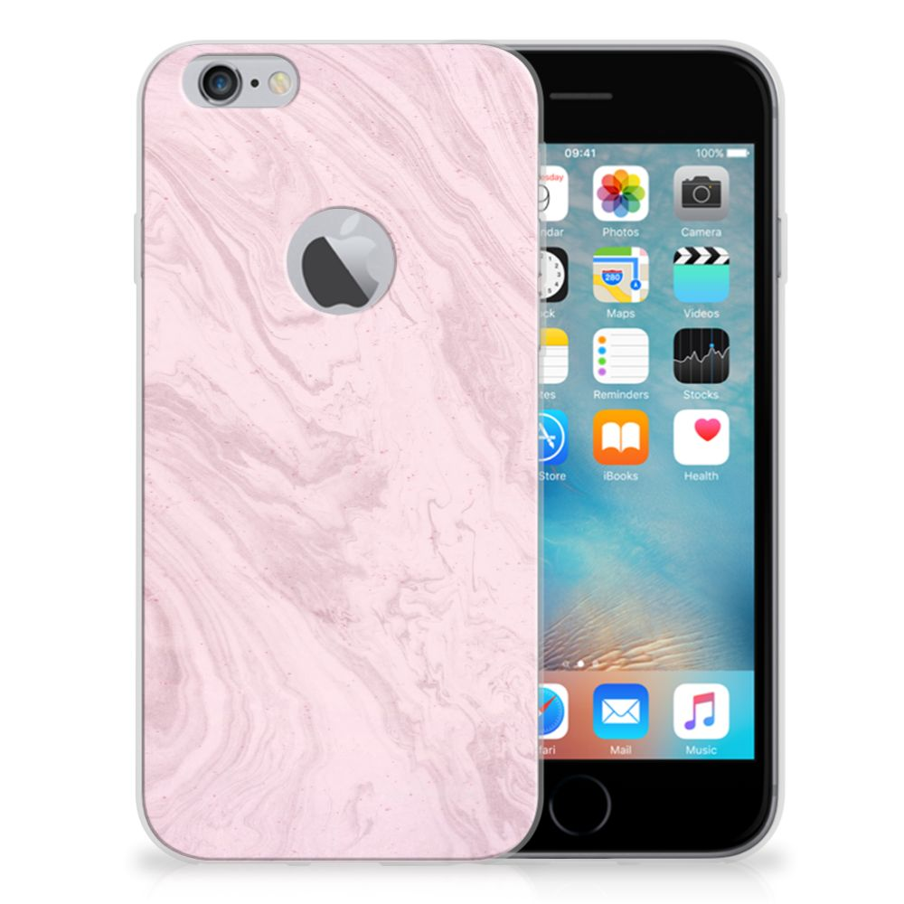 Apple iPhone 6 Plus | 6s Plus TPU Siliconen Hoesje Marble Pink