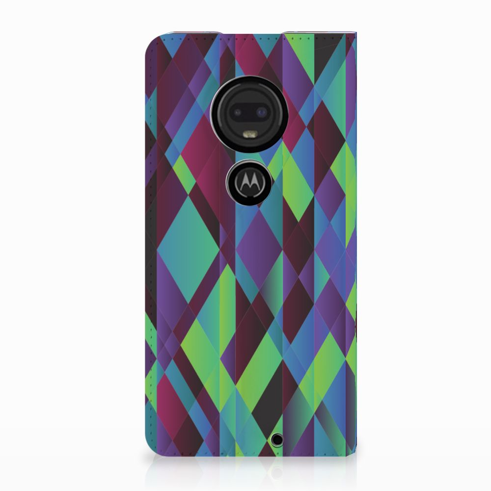 Motorola Moto G7 | G7 Plus Stand Case Abstract Green Blue