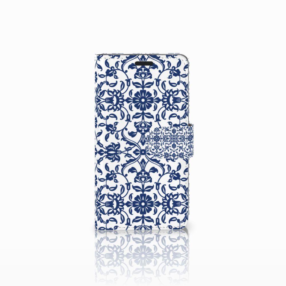 LG G3 Boekhoesje Flower Blue