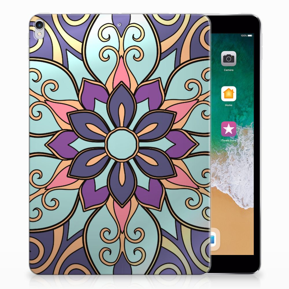 Apple iPad Pro 10.5 Tablethoesje Design Purple Flower