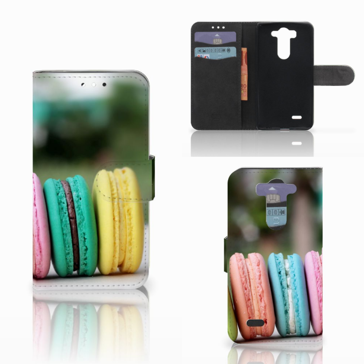 LG G3 S Book Cover Macarons