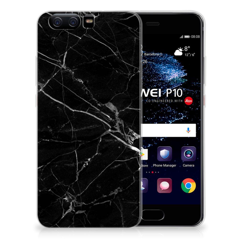 Huawei P10 Uniek TPU Hoesje Marmer Zwart