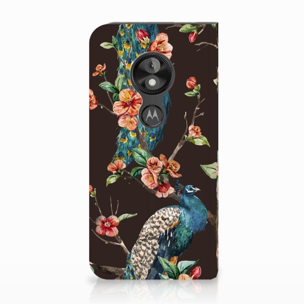 Motorola Moto E5 Play Standcase Hoesje Design Pauw met Bloemen