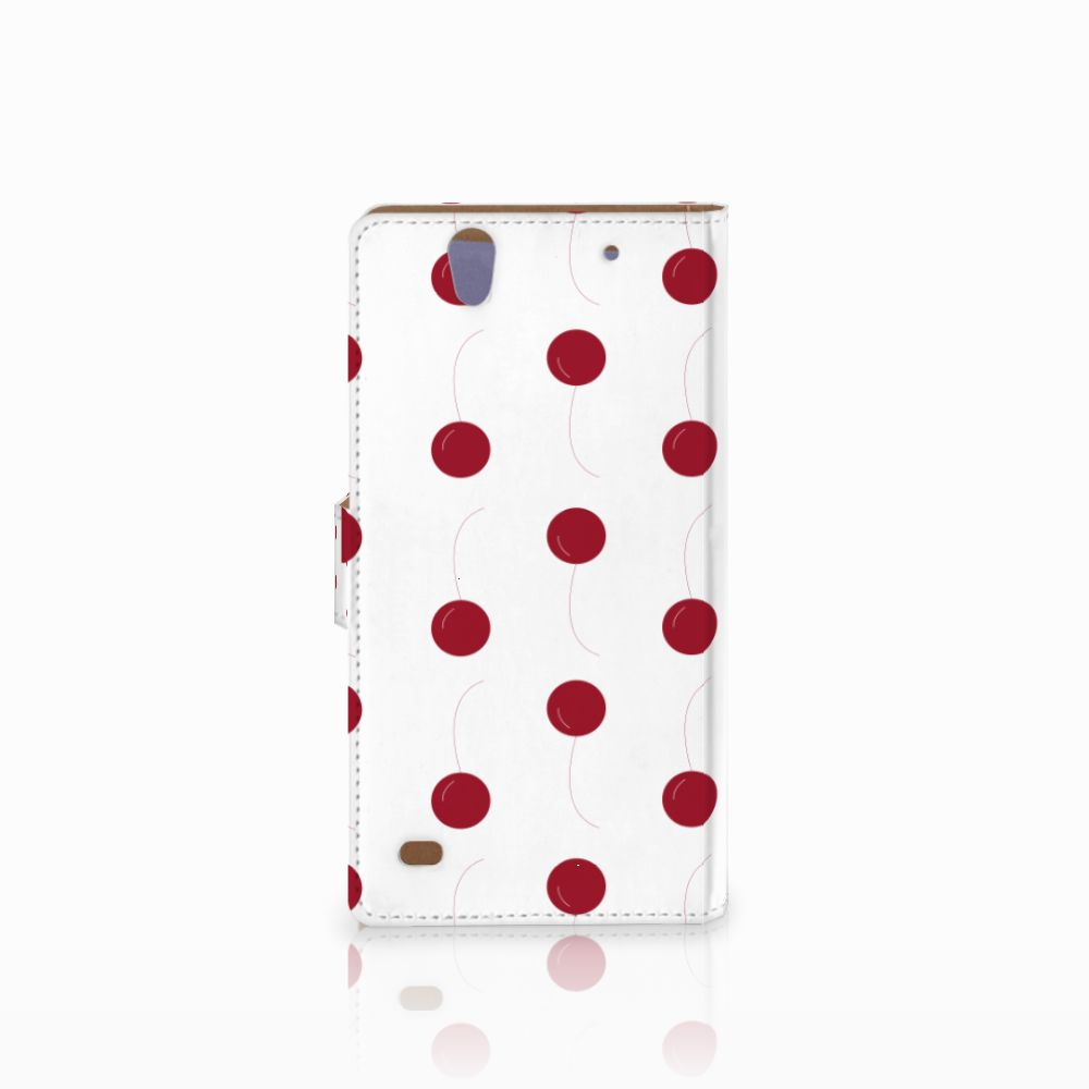 Sony Xperia C4 Book Cover Cherries