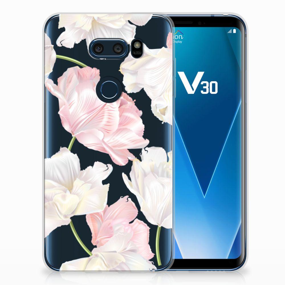 LG V30 TPU Hoesje Design Lovely Flowers