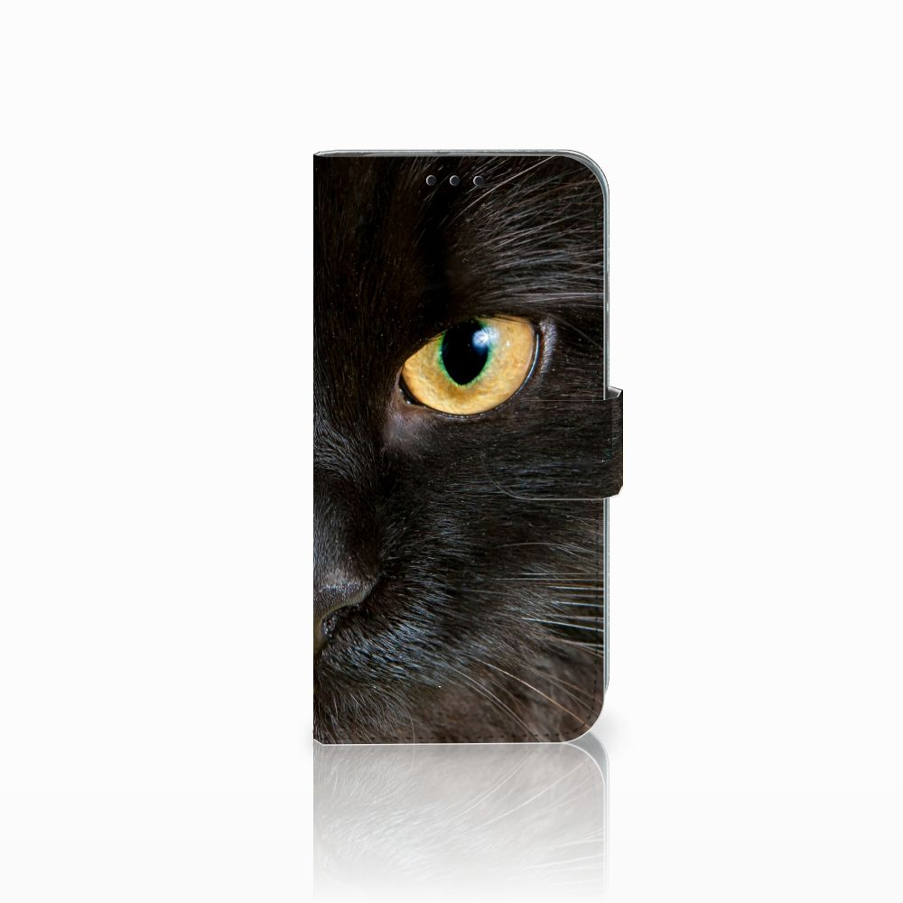 Honor 10 Lite Uniek Boekhoesje Zwarte Kat