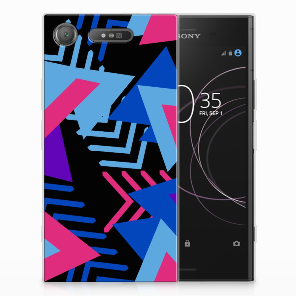 Sony Xperia XZ1 TPU Hoesje Funky Triangle