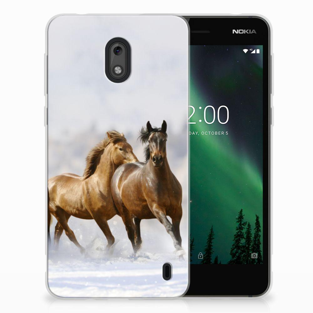 Nokia 2 Uniek TPU Hoesje Paarden