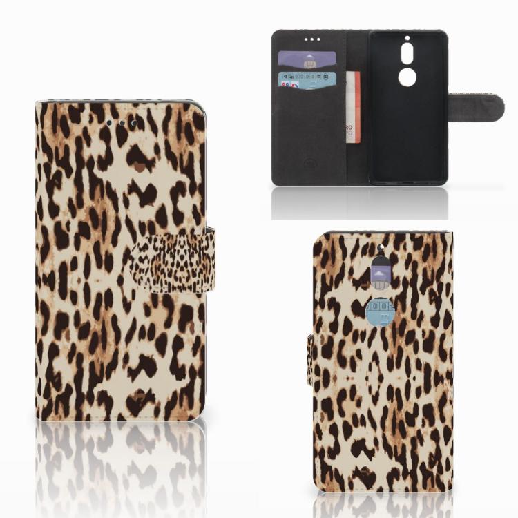Nokia 7 Telefoonhoesje met Pasjes Leopard