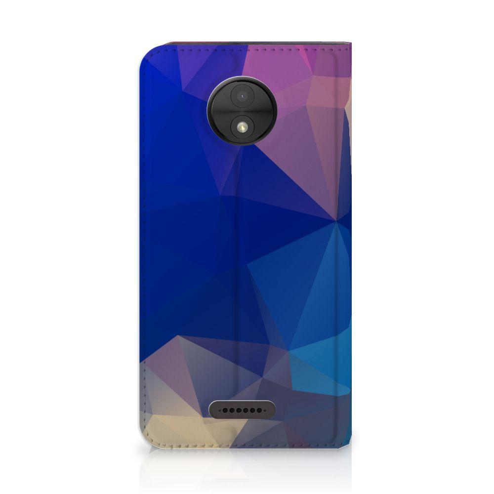 Motorola Moto C Stand Case Polygon Dark