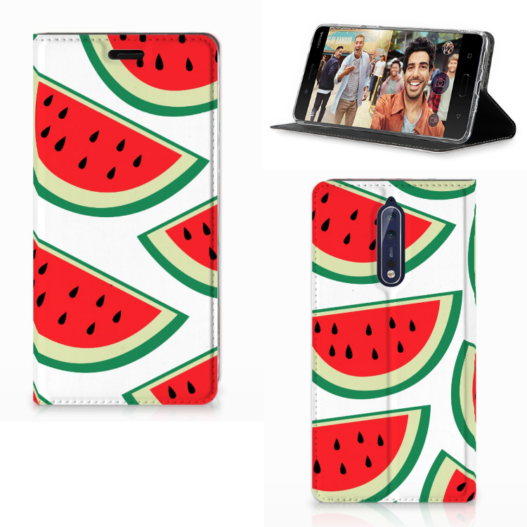 Nokia 8 Flip Style Cover Watermelons